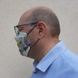 Masque Homme Planisphère
