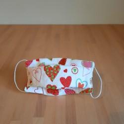 Masque de protection enfant 7-10 ans Coeurs