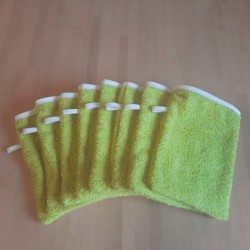 Gant de toilette 15 x 20 cm vert anis