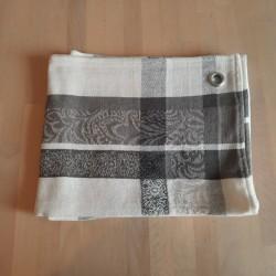 Torchon 50 x 70 cm  Jacquard Bargème noir et blanc