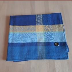 Torchon 50 x 70 cm Jacquard Bargème Bleu
